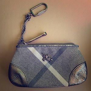 BURBERRY zipper key pouch/coin purse